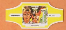 1990 World Cup Cigar Band West Germany Jurgen Klinsmann (Yellow)
